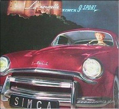 Simca 9 sport 1953