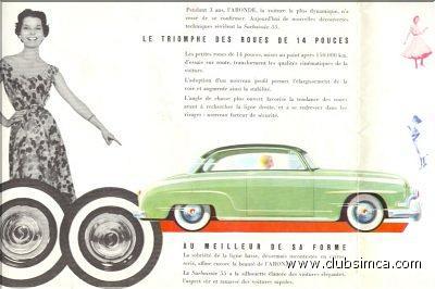 Simca Surbaissée 1955