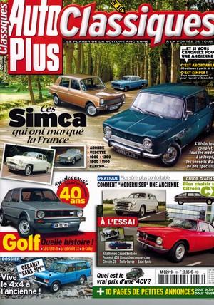 auto plus classiques n 16 octobre novembre 2014 club simca france. Black Bedroom Furniture Sets. Home Design Ideas